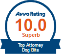 AVVO Top Dog Bite Attorney Badge